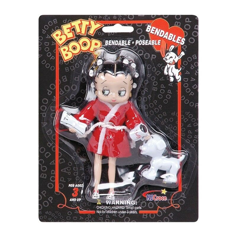 Betty Boop Mornings With Pudgy 6 Bendable Figure By Nj Croce