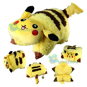 NEW-Pokemon-Pikachu-Transforming-PET-PILLOW-Nap-Sleep-Car-Cushion-Soft-Plush-Toy