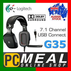 Logitech G35 Dolby 7.1 Surround Sound Gaming Headset USB Headphone voice morph