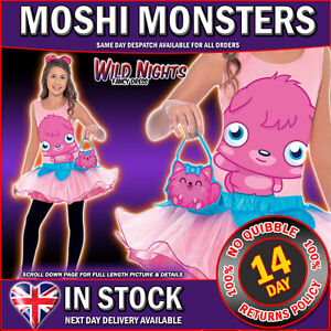 FANCY-DRESS-COSTUME-GIRLS-MOSHI-MONSTERS-POPPET-COSTUME-LG-AGE-10-11-12