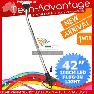12V-42-105CM-LED-PLUG-IN-WHITE-ANCHOR-NAVIGATION-STERN-BOAT-YACHT-MARINE-LIGHT