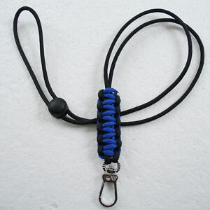 Neck Lanyard ParaCord Handmade For ID Badges Key Whistle Knive