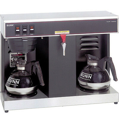 Bunn Vlpf 12 Cup Commercial Coffee Maker W  2 Warmers   Automatic Brewer Machine