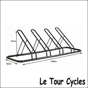 1 - 4 Bike FLOOR PARKING RACK STORAGE STAND Bicycle