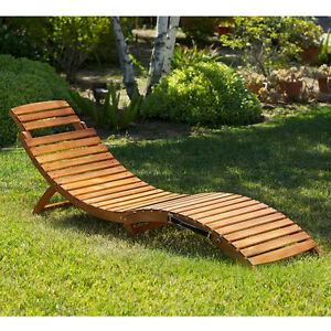 Outdoor Patio Furniture Folding Portable Chaise Lounge Chair