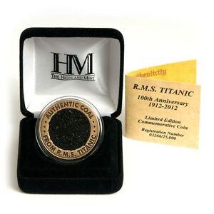 RMS TITANIC 100TH ANNIV LIMITED EDITION COAL COIN W/ COA AUTHENTIC MEMORABILIA