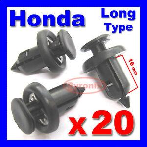 honda bumper wheel arch lining splashguard wing trim clips accord civic crv jazz ebay