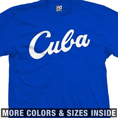 Cuba Baseball T-shirt - Script Béisbol Cuban Castro Viva - All Sizes & Colors