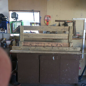 Double bed reclaimed wood