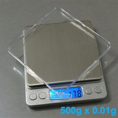 500gx0.01g Food Electronic Weighing Scale Digital Measuring Gram Accurate Wtray