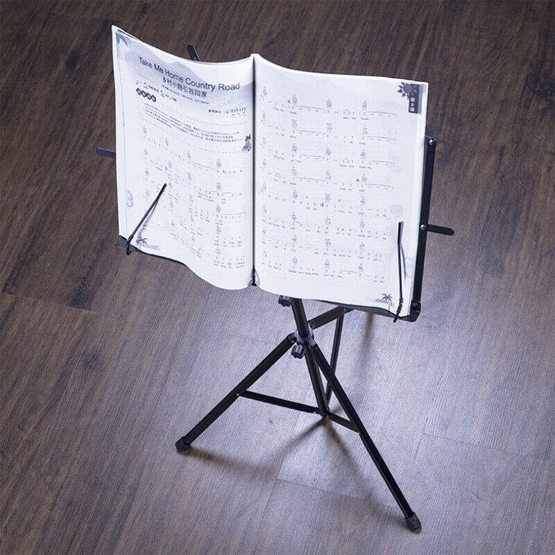 New Folding Sheet Music Stand Score Holder Mount Tripod Carrying Bag US