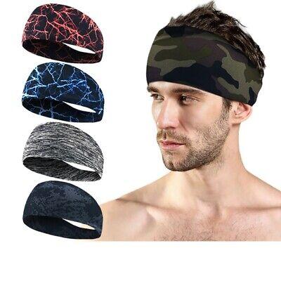 Herren Sports Schweißband Stirnband Yoga Gym Stretch Kopfband Schweiß Haarband