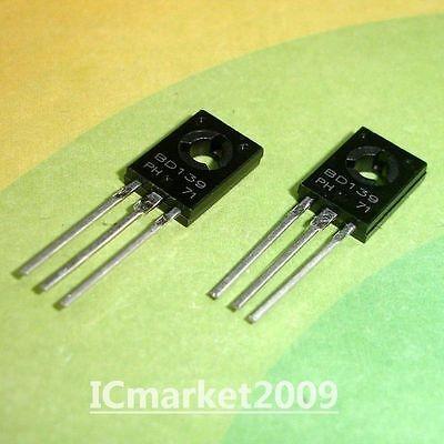 50 Pcs Bd139 To-126 Npn Power Transistors