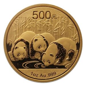 1 oz Misc. Year Chinese Panda 500元 Gold Coin 999