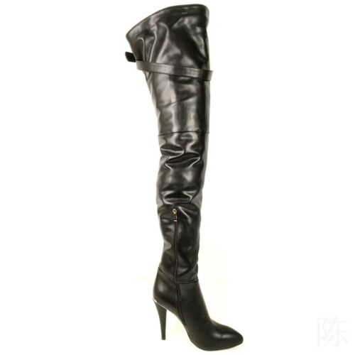 Nachtclub Overkneestiefel Damen Stiletto Boots Spitz Zehe High Heels Stiefel NEU