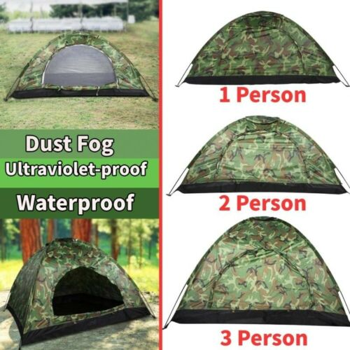 1/2/3-4Person Outdoor Portable Camping Hiking Folding Traveling Tent Camouflage