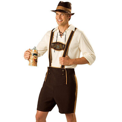 Men's Lederhosen Oktoberfest Costume Octoberfest Bavarian Beer Guy Outfit M-3XL - October Fest Outfit