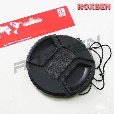 52mm center pinch snap on Front Lens Cap Cover for Canon Nikon Sony w string CA