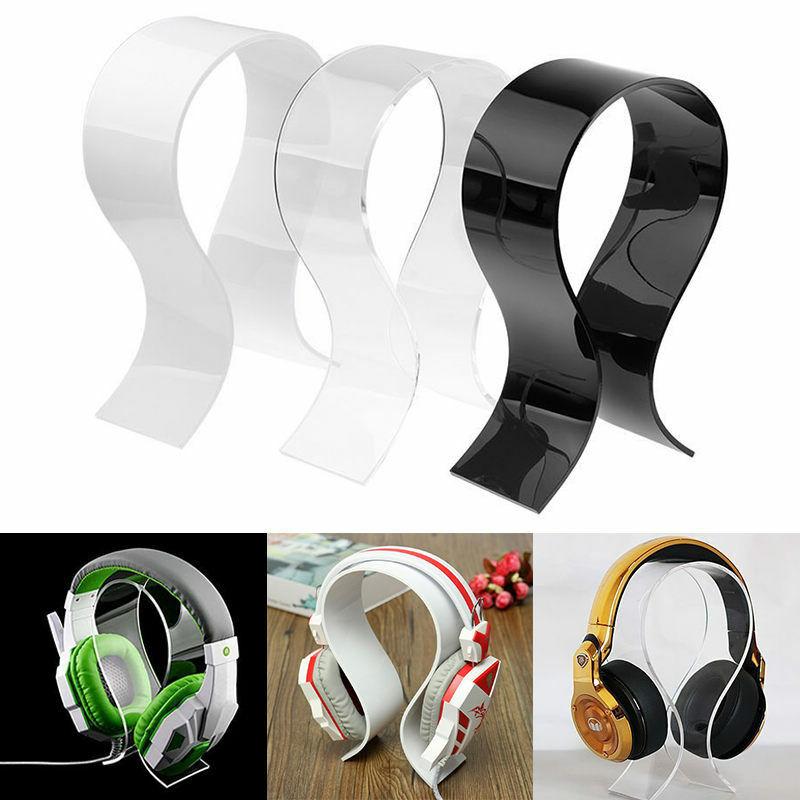 Acrylic Earphone Headset Hanger Holder Headphone Desk Stand