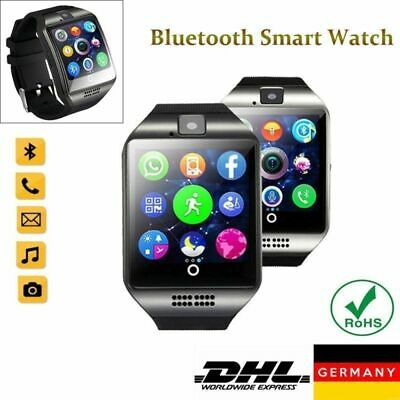 Q18 BLUETOOTH SMARTWATCH ARMBAND UHR ANDROID IOS SMARTPHONE HANDY WATCH SIM KAM