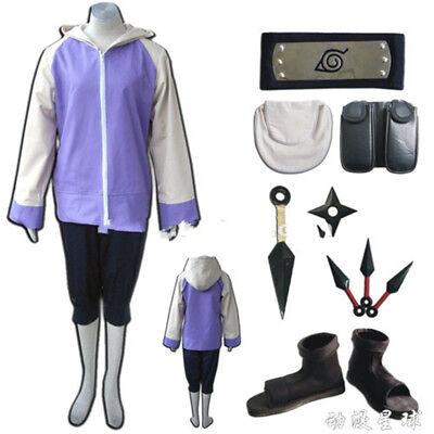 Anime Naruto0 Hyuga Hinata Cosplay Costume Uniform Halloween Full Set Fast Ship - Hinata Hyuga Halloween Costume