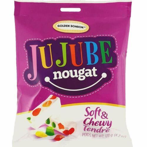 Golden BonBon Canada Jujube Soft Nougat Candy Individually Wrapped 4.23 oz