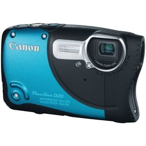 Canon PowerShot D20 12.1 MP Digital Camera - Blue. Water And Sho
