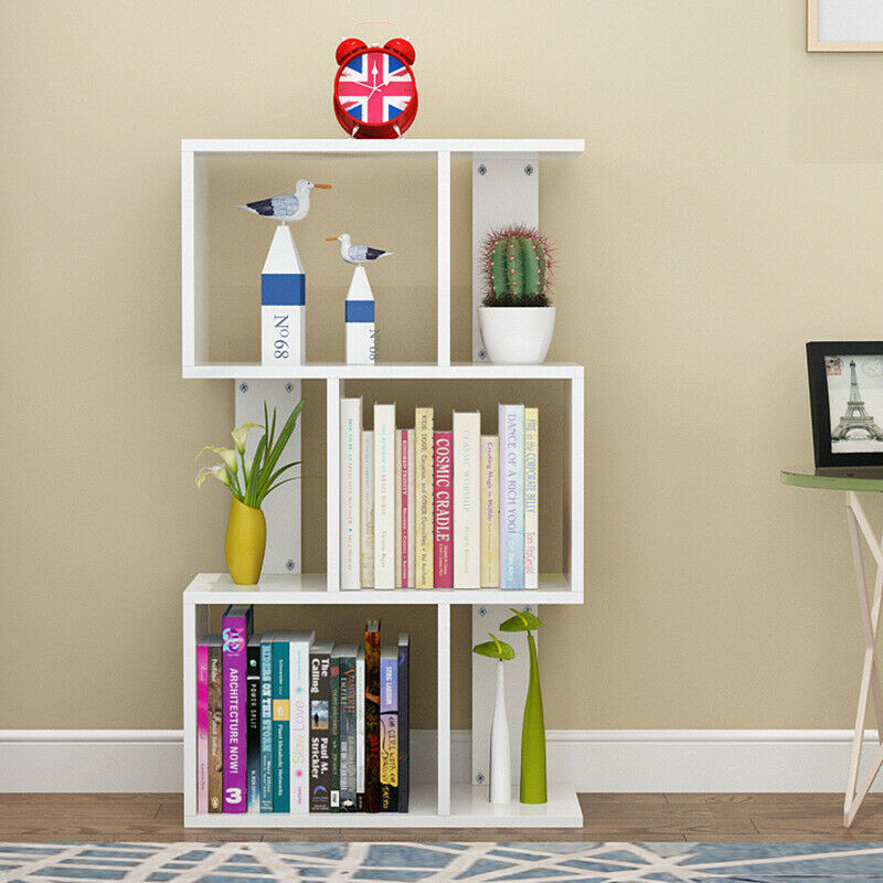 Small 3 Tier Bookcase Wood Bookshelf Cd Display Storage