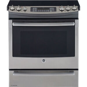 "GE Profile PCS940SFSS 30"" Electric Range Self Clean Convection"