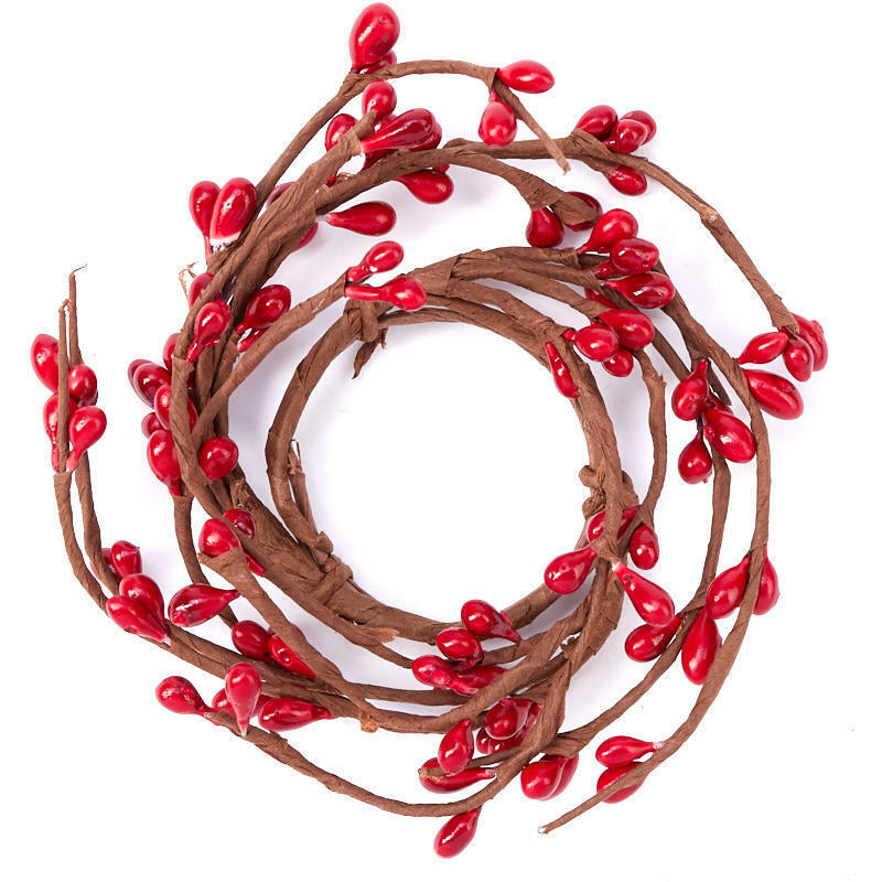 Red Pip Berry Candle Ring | 6 Pieces