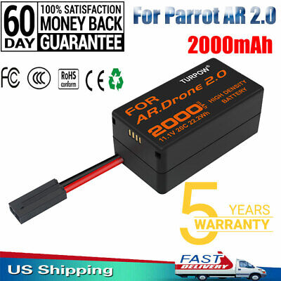 2000mAh 11.1V 20C Update Battery For Parrot AR 2.0 Drone 2.0AH Lithium-Polymer