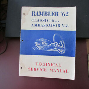 Vintage 1962 Rambler Technical Service Manual
