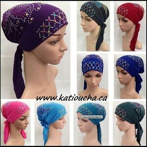 Preformed Scarf,turban f Hair Loss Chemotherapy,fighting cancer
