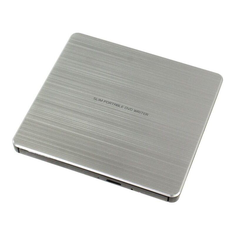 LG COLOR ARGENTO ESTERNO ULTRA-SLIM USB DVD-CD BRUCIATORE SCRITTORE RW & DL/TV