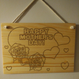 Mother's Day decorative wooden board