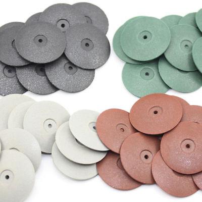40 Pcs Dental Rubber Polishers Polishing Disc For Metal Jewelry Rotary Tool 2.35