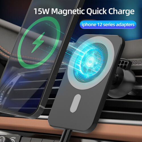 Car Wireless Fast Charger Magnetic Phone Mount Holder for iPhone 12 Pro MAX Mini Cell Phone Accessories