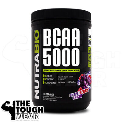 NUTRABIO BCAA 5000 400grams Grape Berry Crush - INSTANTIZED BRANCH CHAIN (Grape Branch)