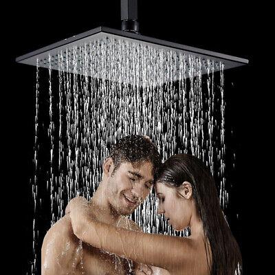 Brass 16-inch Rainfall Shower Head Bathroom Square Top Sprayer Oil Rubbed Bronze Brass Sprayer Oil Rubbed Bronze
