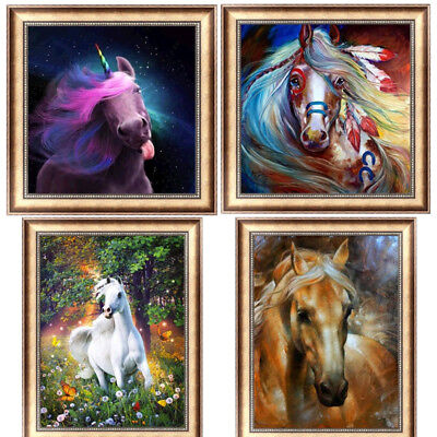 Horse Cross Stitch - Horse DIY 5D Diamond Painting Embroidery Unicorn Cross Stitch Home Decor Animal