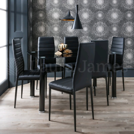 : 4 or 6 Person Dining table and chairs Set