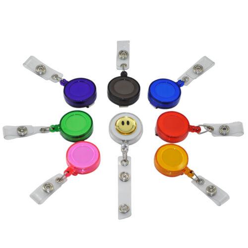 5-50 Retractable Reel Recoil ID Badge Lanyard Name Tag Key Card Holder Belt Clip