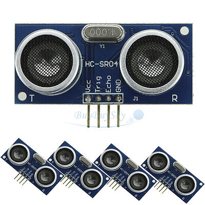 5pcs Ultrasonic Module Hc-sr04 Distance Measuring Transducer Sensor For Arduino