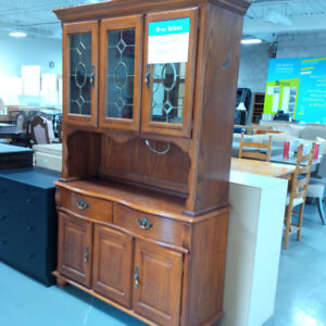 Wooden brown hutch in perfect condition for only $50