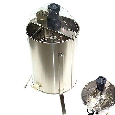 4Frame Electrical Stainless Steel Honey bee Extractor Beekeeping +Outlet Device