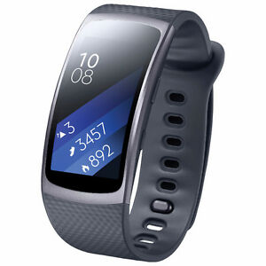 New Samsung Gear Fit2 GPS w/Heart Rate Monitor - Large - Black