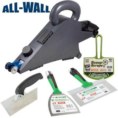 Delko Banjo Drywall Taping Tool W Sheetrock Matrix Joint Knives Corner Trowel