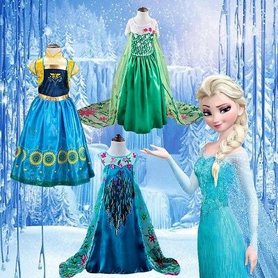 Top Baby Girl's Cosplay Anna Elsa Dress Queen Kid's Costume Party (Baby Queen Kostüm)