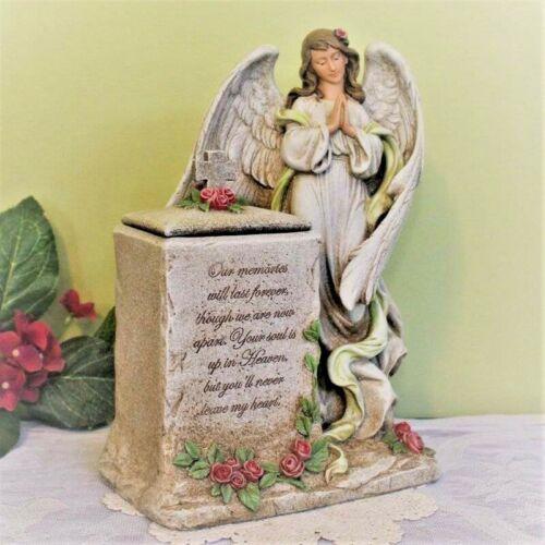 Praying Angel Memorial Urn Keepsake Box Pet Person Cat Dog 12 inch Resin