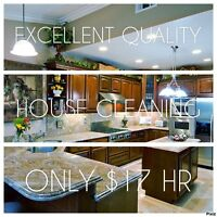 Only $17 HR 100% Quality Domicile Cleaning All Services to Last!